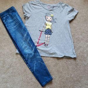 Children's place girls shirt size 14 gray